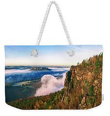 Mist Flow Around The Fortress Koenigstein Weekender Tote Bag