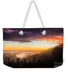 Mist Rising At Dusk Weekender Tote Bag