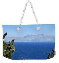 Weekender Tote Bag featuring the photograph Mistral Wind by George Katechis