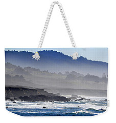 Weekender Tote Bag featuring the photograph Misty Coast by AJ  Schibig