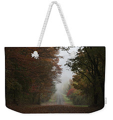 Misty Fall Morning Weekender Tote Bag