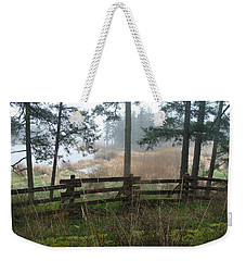 Weekender Tote Bag featuring the photograph Misty Flats by Cheryl Hoyle