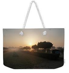 Misty Garden In The Morning Light Weekender Tote Bag