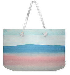 Misty Lake Original Painting Weekender Tote Bag