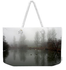 Misty Lake Reflections Weekender Tote Bag
