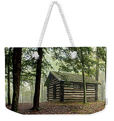 Misty Morning Cabin Weekender Tote Bag