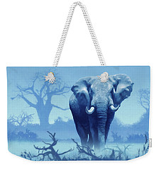 Misty Blue Morning In The Tsavo Weekender Tote Bag