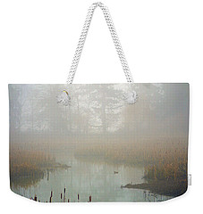 Weekender Tote Bag featuring the photograph Misty Morning by Jordan Blackstone