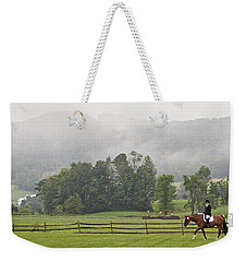 Misty Morning Ride Weekender Tote Bag by Joan Davis