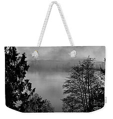 Misty Morning Sunrise Black And White Art Prints Weekender Tote Bag