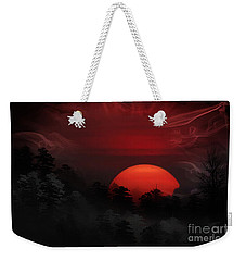 Misty Mountain Sunrise Weekender Tote Bag