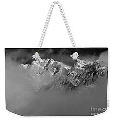 Misty Mountains In Mono Weekender Tote Bag