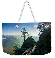 Misty Sunrise On Neurathen Castle Weekender Tote Bag