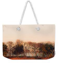 Misty Winter's Morning Weekender Tote Bag by Angela DeFrias