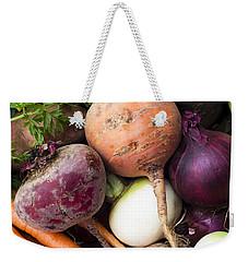 Mixed Veg Weekender Tote Bag by Anne Gilbert