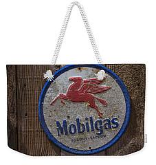 Mobil Gas Sign Weekender Tote Bag
