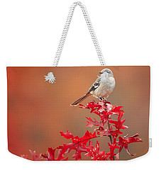 Mockingbird Autumn Square Weekender Tote Bag by Bill Wakeley