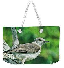 Mockingbird Pose Weekender Tote Bag by Deborah Benoit