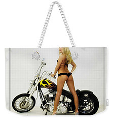 Models And Motorcycles_j Weekender Tote Bag