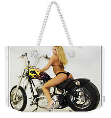 Models And Motorcycles_k Weekender Tote Bag