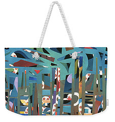 modern abstract painting - Tropical Storm Weekender Tote Bag