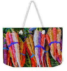 Modern Carrot Painting Weekender Tote Bag