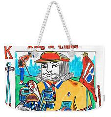 Modern King O' Clubs Weekender Tote Bag by Seth Weaver