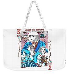 Modern King O' Hearts Weekender Tote Bag