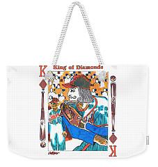 Modern King O' Diamonds Weekender Tote Bag