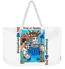 Modern King O' Spades Weekender Tote Bag by Seth Weaver