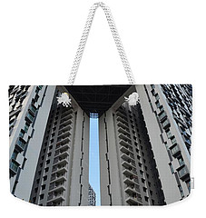 Weekender Tote Bag featuring the photograph Modern Skyscraper Apartment Building Singapore by Imran Ahmed