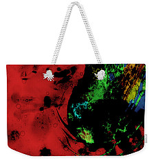 Weekender Tote Bag featuring the mixed media Modern Squid by Ally  White