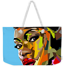 Weekender Tote Bag featuring the digital art Modern Woman by Anthony Mwangi