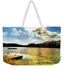 Mohegan Lake Gold Weekender Tote Bag