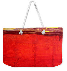 Mojave Dawn Original Painting Weekender Tote Bag
