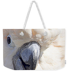 Weekender Tote Bag featuring the photograph Moluccan Close Up by AJ  Schibig