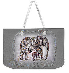 Mom Elephant Weekender Tote Bag