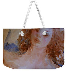 Weekender Tote Bag featuring the painting Mom Near Jupiter by Laurie L