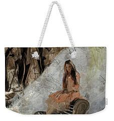 Weekender Tote Bag featuring the digital art Moment by Galen Valle