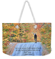 Moments That Take Our Breath Away Weekender Tote Bag by Shelley Neff