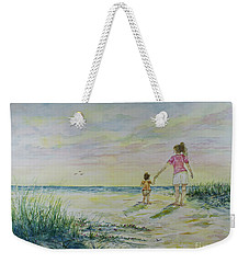 Mommy And Me At The Beach Weekender Tote Bag