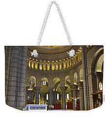 Weekender Tote Bag featuring the photograph Monaco Cathedral by Allen Sheffield