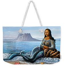 Monalisa Mermaid Weekender Tote Bag by Anthony Mwangi