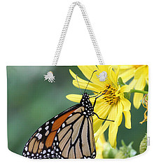 Weekender Tote Bag featuring the photograph Monarch Beauty by Doris Potter
