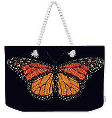 Monarch Butterfly Bedazzled Weekender Tote Bag