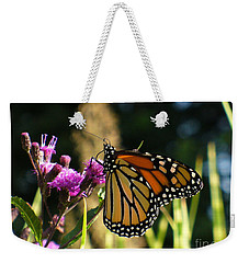 Weekender Tote Bag featuring the photograph Monarch Butterfly by Lingfai Leung