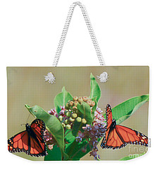 Monarch Gathering Weekender Tote Bag by Kerri Farley