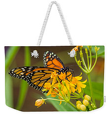 Weekender Tote Bag featuring the photograph Monarch by Jane Luxton