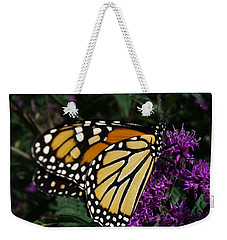 Weekender Tote Bag featuring the photograph Monarch by Lingfai Leung