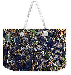 Monarch Mosaic Weekender Tote Bag by AJ  Schibig